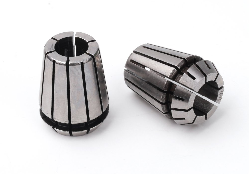 Z-COLOR 12pcs Super Precision 1/8''-1/2'' ER20 Spring Collet Set With 1/8'',5/32'',3/16'',7/32'',1/4'',9/32'',5/16'',11/32'',3/8'',13/32'',7/16'',1/2'' For CNC Milling Lathe Tool Engraving Machine