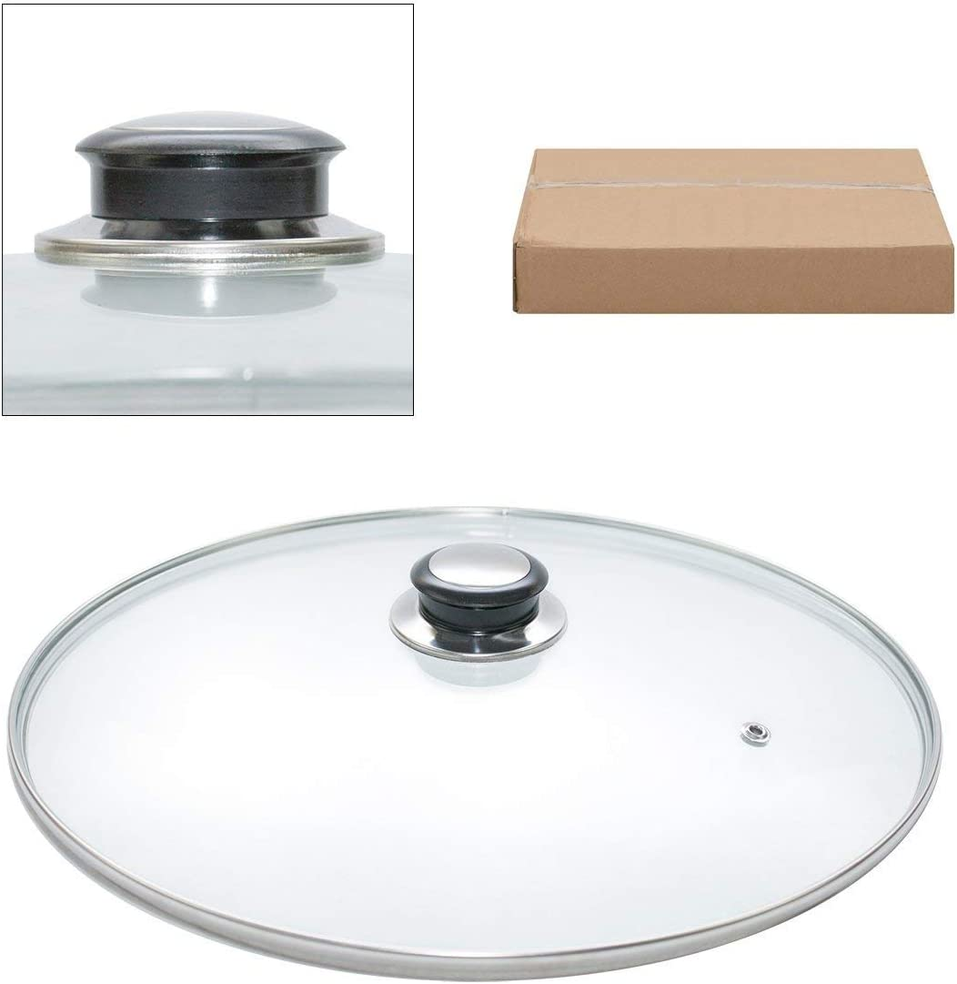 Glass Lids Saucepan Pot Frying Pan Vented Lid Casserole Tempered Cover All Sizes