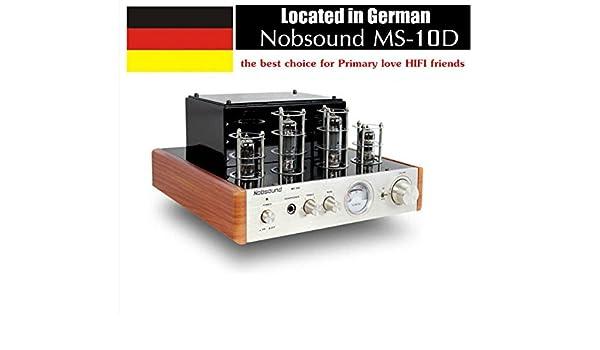 Amplificador de válvulas amplificador de potencia de audio estéreo Nobsound MS-10D excelente Röhrenverstärker: Amazon.es: Electrónica