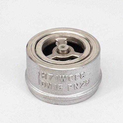 Sorekarain 1//4 NPT Female Check One Way Valve 304 Stainless Steel Water Gas Oil Non-return