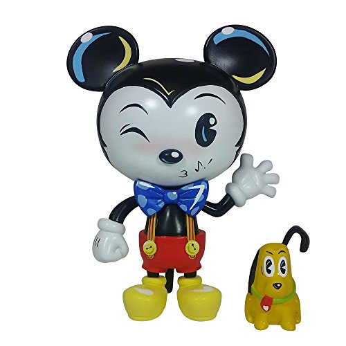 Enesco World of Miss Mindy Presents Disney Designer Collection Mickey Mouse Vinyl Figurine, 7 , Multicolor