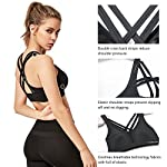 Yvette Strappy Sports Bras for Women High Impact for Large Bust Plus Size Criss Cross Back