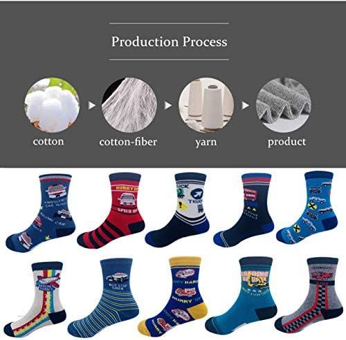 Boys Socks Dinosaur Kids Sock Assorted Youth Cotton Crew Socks 10 Pair Pack