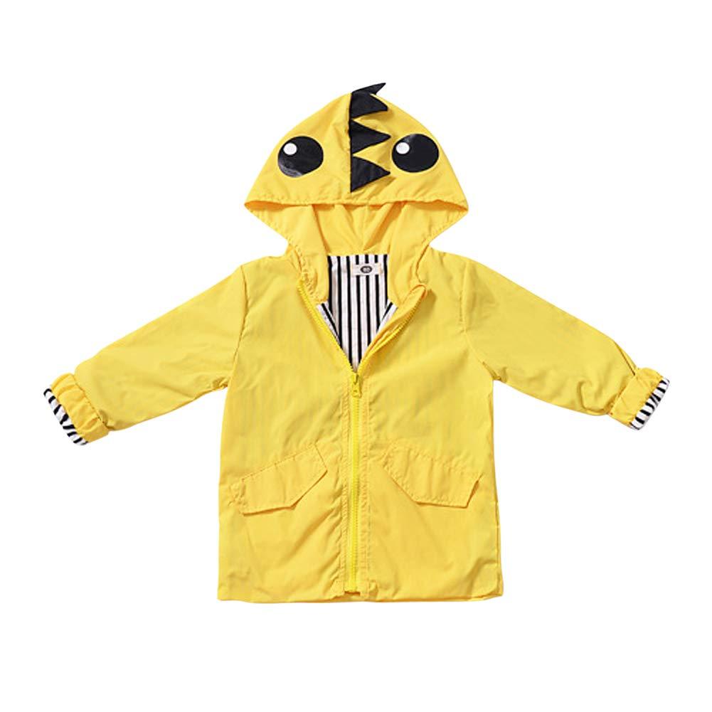 Genda 2Archer Baby Girl Jacket Baby Raincoat Cute Hooded Zip Up Coat Waterproof Windproof