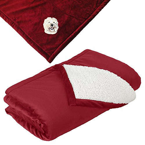 West Highland Blanket (Cherrybrook Dog Breed Embroidered Mountain Lodge Reversible Blanket - Red - West Highland White Terrier)