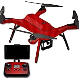 MightySkins Protective Vinyl Skin Decal for 3DR Solo Drone Quadcopter wrap cover sticker skins Red Carbon Fiber