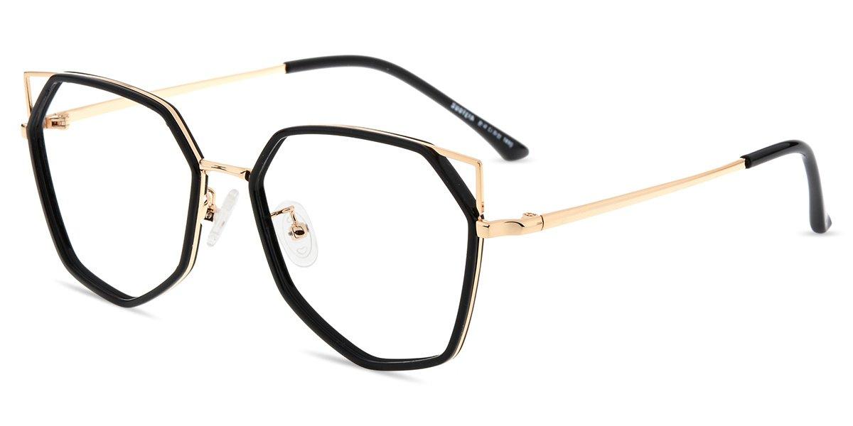 Firmoo Blue Light Blocking Computer Glasses, Anti-eyestrain, Anti Glare Fashion Cateye Glasses for Women(Black Frame)