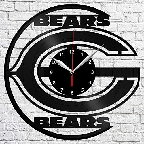 Chicago Bears Vinyl Record Wall Clock Decor Home Original Gift Unique Design Handmade art