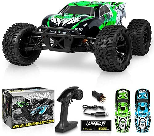 1:10 Scale Brushless RC Cars 65 km/h Speed – Boys Remote Control Car 4×4 Off Road Monster Truck Electric – All Terrain Waterproof Toys for Kids and Adults -2 Body Shell + Connector for 30+ Mins Play