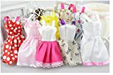 Easydan 10 PCS of Baby Girl Toy Doll Clothes Dress for 29CM Doll Random Style