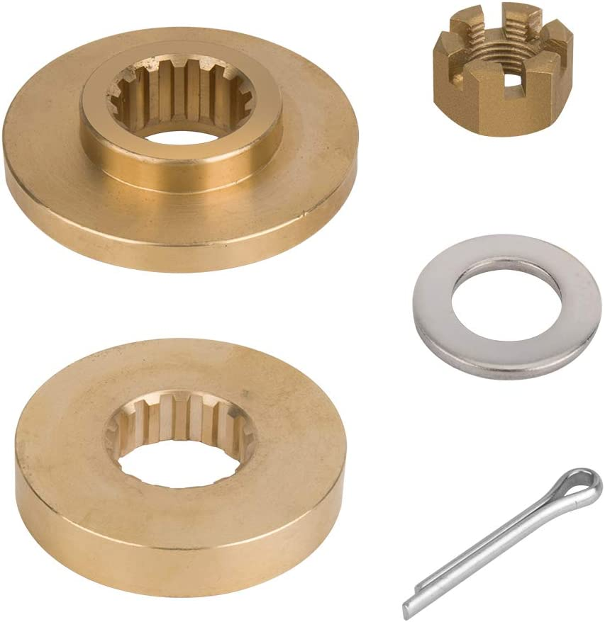 Jason Marine Propeller Installation Hardware Kits fit Yamaha Outboard 60-115HP, Thrust Washer/Spacer/Washer/Nut/Cotter Pin, Ref No.6E5-45987-01