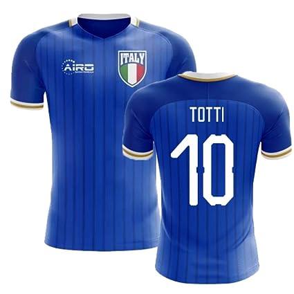 2c973e3a8 Amazon.com   Airosportswear 2018-2019 Italy Home Concept Football Soccer  T-Shirt Jersey (Francesco Totti 10)   Sports   Outdoors