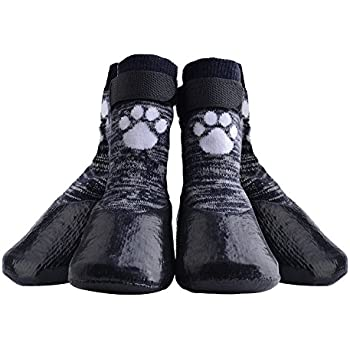 KOOLTAIL Dog Socks Anti Slip with Straps Traction Control Waterproof Paw Protector, S