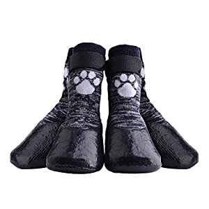 KOOLTAIL Dog Socks Anti Slip with Straps Traction Control Waterproof Paw Protector 38