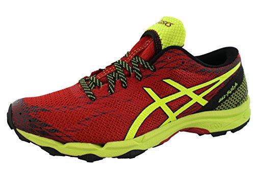 ASICS Mens Gel Fuji Lyte Trail Running Shoes (9, Racing Red/Flash Yellow/Black)