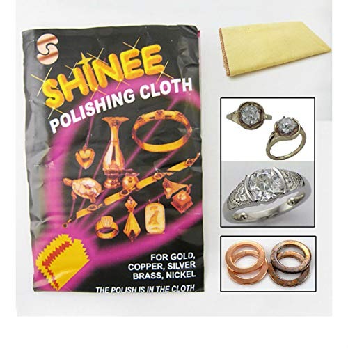 1 Shinee Jewelry Polishing Cloth Clean Silver Gold Cleanning Cooper Brass Nickel from Unknown