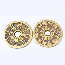 2pcs Chinese Bagua Tai Sui Coin Amulets-feng Shui + Gift Bag SKU:Y1021