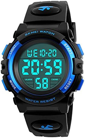 Kid s Digital Watch Outdoor Sports 50M Waterproof Electronic Watches Alarm Clock 12 24 H Stopwatch Calendar Boy Girl Wristwatch