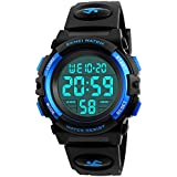 Mico Boys Digital Watch for Teen Boys, Girl Watch Toys for 6-13 Year Old Boy Girls Gift for Teen Boys Age 9-15 Present Waterproof Led Watches (A-Blue)
