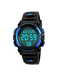Kids Digital Watch, Farsler Digital Sports 50M Waterproof Led Watches Alarm Clock Luminous Wrist Watch for Boys Girls Childrens