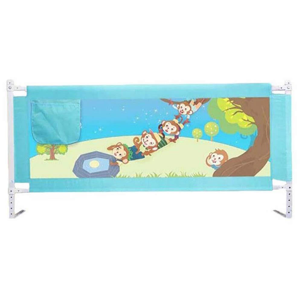 GXYAWPJ 子供用ガードレール、ベッドレール手すりベビーベッド用ガードレール調整可能、折りたたみ式ベッドレール保護、青(サイズ:150-200 Cm) (色 : 青, サイズ さいず : 1.8m) 1.8m 青 B07RZ7CTK5
