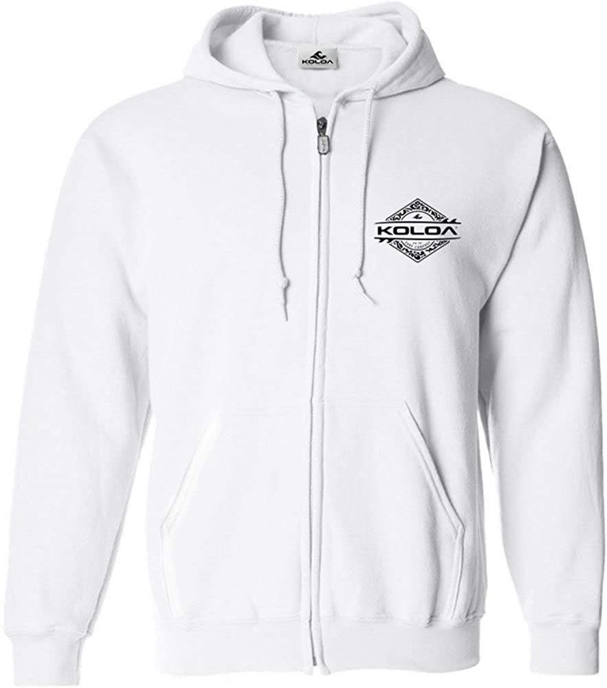 Koloa Surf Diamond Thruster Logo Full Zipper Hoodie-Hooded Sweatshirt-DarkHeath//b-M tm