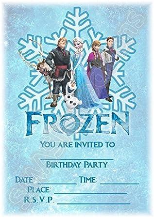 Disney Frozen Birthday Party Invites Snowflake Portrait