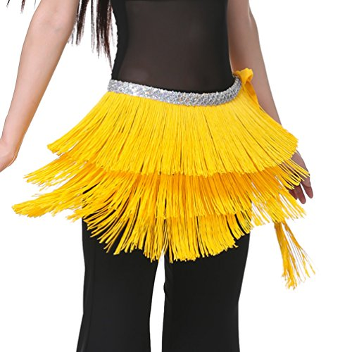 Foulard du Ceinture Tribal gland YouPue ventre Hip main Dance Belly danse Orientale Dance foulard de Belly Danse Jaune q8vwHFq