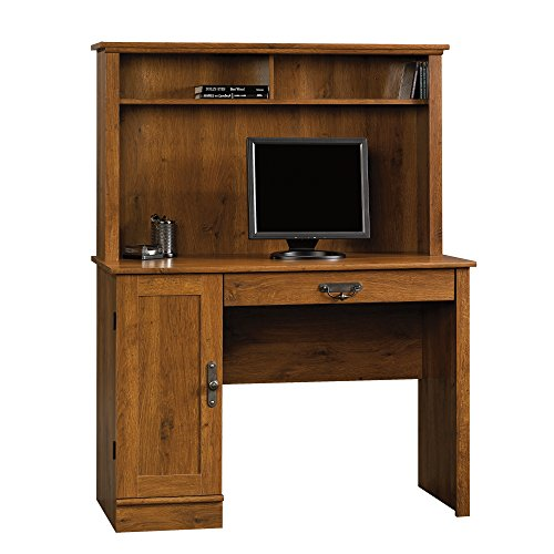 (Sauder 404961 Harvest Mill Computer Desk with Hutch, L: 43.47