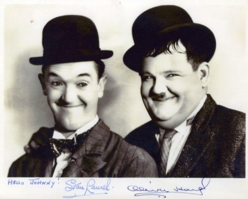 Laurel and Hardy Movie Still Signed Autographed 8 X 10 Reprint Photo - Mint Condition from Nostalgic Cards & Autographs