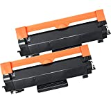 (CHIP INCLUDED) 2 High Yield Inkfirst Toner Cartridges TN-760 TN760 Compatible Remanufactured for Brother TN-760 Black MFC-L2710DW MFC-L2730DW MFC-L2750DW MFC-L2750DWXL DCP-L2550DW HL-L2350DW HL-L2370DW
