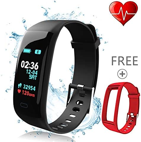 beitony Fitness Tracker, Activity Tracker Watch with Heart Rate Monitor, IP67 Waterproof Fitness Watch with Step Counter, Calorie Counter, Pedometer Watch for Kids Women and Men