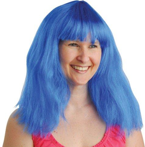 U.S. Toy Neon Wig/Blue
