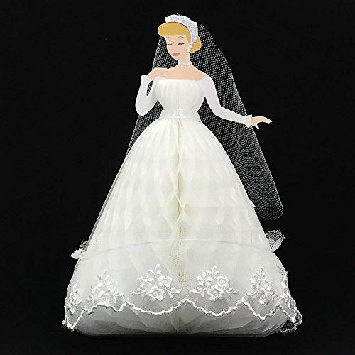 Disney Princess Cinderella Honeycomb w/Lace Multipurpose Pop Up Greeting Card Cinderella Address Labels