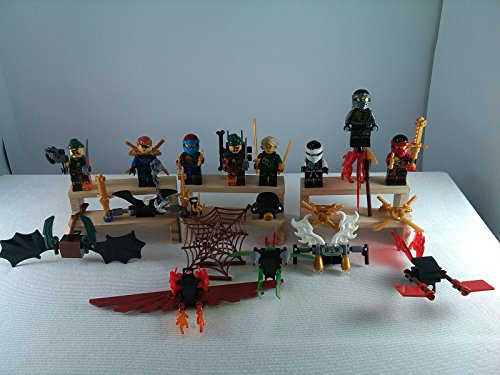[SUPAK® Phantom Ninja Zane Wu Kai JAY Lloyd Skylor Wrayth Master Chen MiniFigures Toy Super Heroes Series Action Figure Building Blocks Brikcs Set Compatible] (Gogo Big Hero Six Costume)