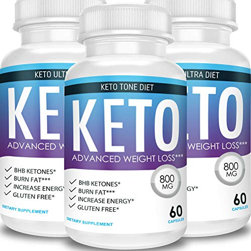 Keto Tone Diet - Advanced Weight Loss - Ketosis Supplement (3 Month Supply)