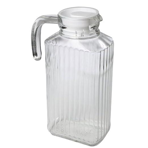 Macallen 2 litros Jarra de Cristal para Nevera Agua Leche Bebidas ...