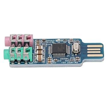 Controlador de Tarjeta de Audio USB Externo, Tarjeta de ...