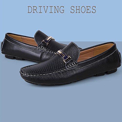 cavo Dimensione Color Nero uomo Mocassini Nero Mocassini guida Color Solid da suola per Penny 2018 Shoes shoes gomma Boat EU Hongjun 45 uomo casual Cavo in Mocassini BqxHw1w4