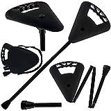 Image of Flipstick Straight Folding Seat Cane Black w/ Black Bag - Non-Adjustable