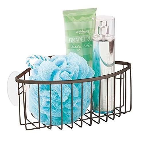 mdesign duschablage fr die ecke praktischer duschkorb zum hngen frs badezimmer oder die dusche - Duschzubehor Zum Hangen