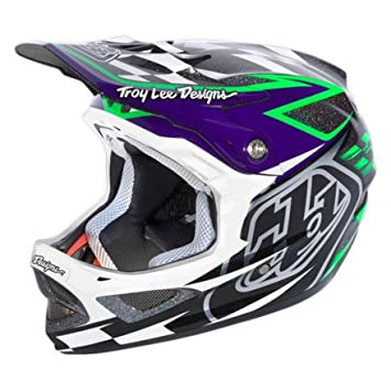 Troy Lee Designs D3 Team Downhill - Casco para descensos, color negro y verde Talla