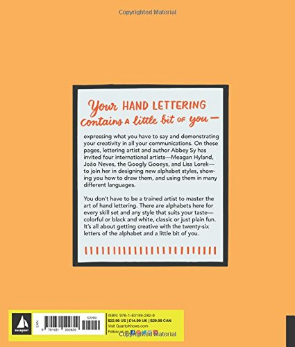 Amazon Hand Lettering A To Z World Of Creative Ideas For Drawing And Designing Alphabets 9781631592829 Abbey Sy Books