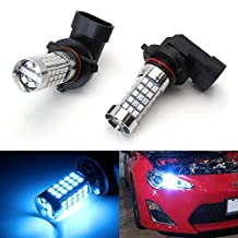 iJDMTOY (2) 10000K Ice Blue 69-SMD 9005 9145 H10 LED Bulbs For High Beam Daytime Running Lights or Fog Light Replacements