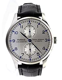 Parnis Portugal Style Men's Automatic Watch Seagull Movement St25 Power Reserve Sapphire by Parnis