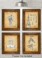 Original NASA Patent Art Prints - Set of Four Photos (8x10) Unframed