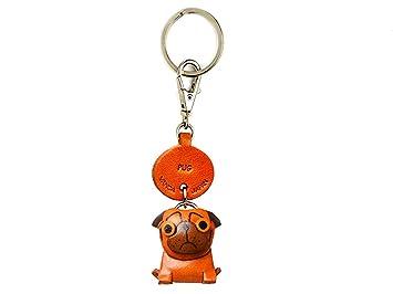 Amazon.com: Pug perro de piel pequeño llavero vanca craft ...
