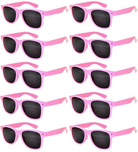 Ladies 10 Pack Pink Frame Vintage Eyeglasses Smoke Lens OWL