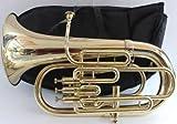 Queen Brass Euphonium 4Valve Bb F Pitch-Brass Finish Sound W Case Mp Gold