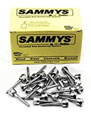 """Everflow SAMMYS 8008957-25 Vertical Screw Anchor for Wood, 3/8"""" Female Rod Thread x 2"""" Screw Length GST 20 (Pack of 25)"""